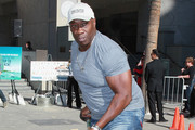 "Actor Michael Clarke Duncan attends Fox's ""The Finder"" Challenge at Hollywood & Highland Courtyard on January 9, 2012 in Hollywood, California."