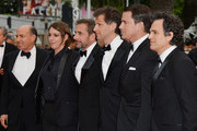 "Jon Kilik, Megan Ellison, Steve Carell, Bennett Miller, Channing Tatum and Mark Ruffalo attend the ""Foxcatcher"" premiere during the 67th Annual Cannes Film Festival on May 19, 2014 in Cannes, France."