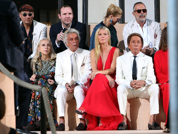 The Front Row at Valentino During AltaRoma AltaModa Fashion Week