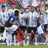 Enzo Perez Gabriel Mercado Photos - Paul Pogba of France takes a free kick during the 2018 FIFA World Cup Russia Round of 16 match between France and Argentina at Kazan Arena on June 30, 2018 in Kazan, Russia. - France vs. Argentina: Round Of 16 - 2018 FIFA World Cup Russia