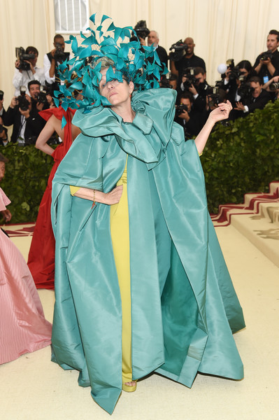 Heavenly Bodies: Fashion & The Catholic Imagination Costume Institute Gala - Arrivals [heavenly bodies: fashion the catholic imagination costume institute gala - arrivals,green,gown,dress,fashion,costume,outerwear,girl,haute couture,tradition,flooring,new york city,metropolitan museum of art,frances mcdormand]