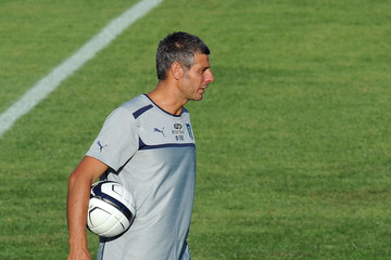 Francesco Toldo Italy U21 Training Session