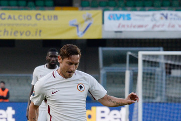 Francesco Totti AC ChievoVerona v AS Roma - Serie A