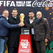 Franco Causio FIFA World Cup Trophy Tour in Rome - Trophy Arrival In Ciampino