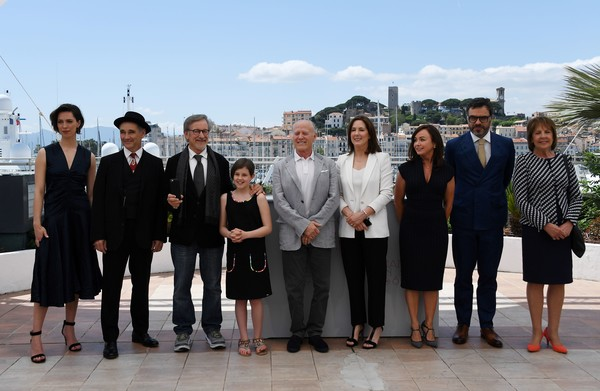 'The BFG' Photocall - The 69th Annual Cannes Film Festival [the bfg photocall,the bfg,social group,team,event,tourism,white-collar worker,mark rylance,rebecca hall,frank marshall,kathleen kennedy,steven spielberg,us,british,cannes film festival]