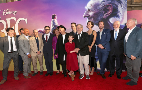 The U.S. Premiere Of Disney's 'The BFG' [the bfg,event,red carpet,premiere,carpet,flooring,team,suit,steven spielberg,john williams,frank marshall,actors,jonathan holmes,l-r,u.s.,disney,premiere]