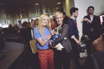 Frankie Bridge The 13th Annual BGC Charity Day At BGC Partners In London's Canary Wharf - Behind The Scenes Colour