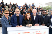 "(R-L) Ariyon Bakare, Pascal Greggory, Isabelle Huppert, Ira Sachs, Jeremie Renier attend the photocall for ""Frankie"" during the 72nd annual Cannes Film Festival on May 21, 2019 in Cannes, France."