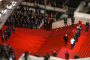 "Image has been created using a tilt shift lens.) Cast and Crew of the film Frankie attend the screening of ""Frankie"" during the 72nd annual Cannes Film Festival on May 20, 2019 in Cannes, France."