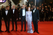 """Jeremie Renier, Pascal Greggory, Ira Sachs, Isabelle Huppert and Austin Butler attend the screening of """"Frankie"""" during the 72nd annual Cannes Film Festival on May 20, 2019 in Cannes, France."""