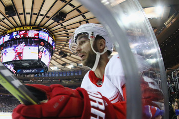 Frans Nielsen Detroit Red WIngs v New York Rangers