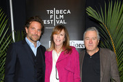 "Bradley Cooper, Jane Rosenthal and Robert De Niro attend the ""Freaks And Geeks: The Documentary"" screening during 2018 Tribeca Film Festival at Spring Studios on April 21, 2018 in New York City."