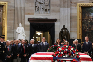 Fred Couples President George H.W. Bush Lies In State At US Capitol