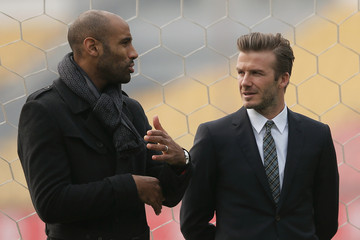 Frederic Kanoute David Beckham Visits Beijing Guo'an Football Club