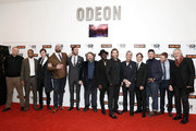 (L-R) Andrew Starke, Mark Monero, Sam Riley, Tom Davis, Armie Hammer, Ben Wheatley, Babou Ceesay, Sharlto Copley, Michael Smiley, Cillian Murphy, Enzo Cilenti, Jack Reynor and guest attend the 'Free Fire' Closing Night Gala screening during the 60th BFI London Film Festival at Odeon Leicester Square on October 16, 2016 in London, England.