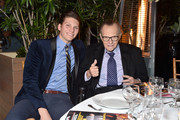 Chance Armstrong King and Larry King attend the Friars Club honors Larry King for his 86th birthday at The Crescent Hotel on November 25, 2019 in Beverly Hills, California.