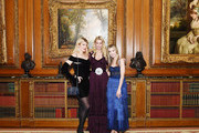 Meredith Ostrom, Mary Snow and Alexandra Lind Rose attends The Frick Young Fellows Ball 2018 at The Frick Collection on March 15, 2018 in New York City.