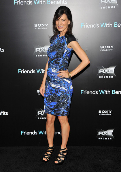 "Perrey Reeves attends the ""Friends with Benefits"" premiere at Ziegfeld Theater on July 18, 2011 in New York City."