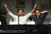 "Actors Joshua Jackson and John Noble speak at ""Fringe"" Panel during Comic-Con International 2012 at San Diego Convention Center on July 15, 2012 in San Diego, California."
