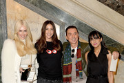 (L-R) Amanda Cronin, Lisa Snowdon, Bruno Tonioli and Jackie St Clair attend the Julien Macdonald show during the London Fashion Week February 2017 collections on February 18, 2017 in London, England.
