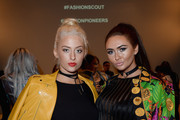Chloe Paige and Charlotte Dawson attend the Fun Affair show at Fashion Scout during London Fashion Week Spring/Summer collections 2017 on September 20, 2016 in London, United Kingdom.