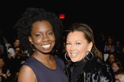 Actors Adepero Oduye (L) and Vanessa Williams attend Carmen Marc Valvo fashion show during Mercedes-Benz Fashion Week Fall 2014 at The Salon at Lincoln Center on February 7, 2014 in New York City.