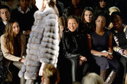 (L-R) Melanie Hervey, Vanessa Williams and Adepero Oduye attend Carmen Marc Valvo fashion show during Mercedes-Benz Fashion Week Fall 2014 at The Salon at Lincoln Center on February 7, 2014 in New York City.
