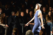 Melanie Hervey, Vanessa Williams and Adepero Oduye attend Carmen Marc Valvo fashion show during Mercedes-Benz Fashion Week Fall 2014 at The Salon at Lincoln Center on February 7, 2014 in New York City.