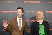 """Actors Hugh Jackman and Deborra-lee Furness attend the New York premiere of """"The Front Runner"""" at the Museum of Modern Art on October 30, 2018 in New York City."""