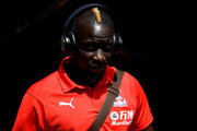 Mamadou Sakho of Crystal Palace arrives at the stadium prior to the Premier League match between Fulham FC and Crystal Palace at Craven Cottage on August 11, 2018 in London, United Kingdom.