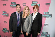 (L-R) Brett Weitz, Executive Vice President, TBS Originals, Executive Producer Samantha Bee, and actor Molly Ringwald attend 'Full Frontal with Samantha Bee' FYC Event Los Angeles at The WGA Theater on May 24, 2018 in Beverly Hills, California.