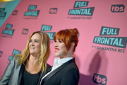 Executive Producer Samantha Bee (L) and actor Molly Ringwald attend 'Full Frontal with Samantha Bee' FYC Event Los Angeles at The WGA Theater on May 24, 2018 in Beverly Hills, California.