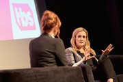 Moderator Molly Ringwald (L) and Executive Producer & Host Samantha Bee speak onstage during 'Full Frontal with Samantha Bee' FYC Event Los Angeles at The WGA Theater on May 24, 2018 in Beverly Hills, California.