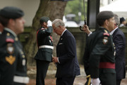 "Prince Charles, Prince of Wales passes members of the Second Battalion, Princess Patricia's Canadian Light Infantry (2PPCLI), known as ""The Patricia's"", as he arrives at the funeral service of Patricia Knatchbull, Countess Mountbatten of Burma at St Paul's Church in Knightsbridge on June 27, 2017 in London, United Kingdom."