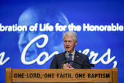 Former U.S. President Bill Clinton speaks at the funeral of former U.S. Congressman John Conyers Jr. (D-MI) at Greater Grace Temple on November 4, 2019 in Detroit, Michigan. Conyers, who died on October 27 at the age of 90, was the longest serving African American member of the U.S House of Representatives in U.S. history, and the third longest serving House member, having held the office for more than 50 years.