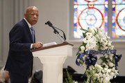 Rep. John Lewis (D-GA) speaks during the funeral service for former Rep. John Dingell (D-MI) on February 14, 2019 at Holy Trinity Catholic Church in Washington, DC. Dingell, who represented southeast Michigan for 59 years in the House of Representatives, died last week at age 92.