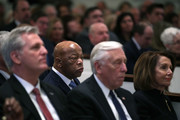 Rep. John Lewis (D-GA) (2L) attends the funeral mass for former Rep. John Dingell (D-MI) at Holy Trinity Church February 14, 2019 in Washington, DC. Rep. Dingell, the longest serving member of the House of Representatives, representing Michigan's 12th, 15th and 16th districts between 1955 and 2015, passed away on Feb 7, 2019 at the age of 92.
