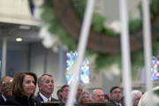House Speaker Nancy Pelosi (D-CA) and Former House Speaker John Boehner attend the funeral mass for former Rep. John Dingell (D-MI) at Holy Trinity Church February 14, 2019 in Washington, DC. Rep. Dingell, the longest serving member of the House of Representatives, representing Michigan's 12th, 15th and 16th districts between 1955 and 2015, passed away on Feb 7, 2019 at the age of 92.