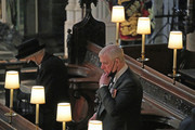 Queen Elizabeth II and the Duke of York attend the funeral of Prince Philip, Duke of Edinburgh, at St George's Chapel at Windsor Castle on April 17, 2021 in Windsor, England. Prince Philip of Greece and Denmark was born 10 June 1921, in Greece. He served in the British Royal Navy and fought in WWII. He married the then Princess Elizabeth on 20 November 1947 and was created Duke of Edinburgh, Earl of Merioneth, and Baron Greenwich by King VI. He served as Prince Consort to Queen Elizabeth II until his death on April 9 2021, months short of his 100th birthday. His funeral takes place today at Windsor Castle with only 30 guests invited due to Coronavirus pandemic restrictions.