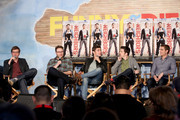Director Nicholas Stoller (L) and actors (L-R) Seth Rogen, Zac Efron, Christopher Mintz-Plasse, and Dave Franco attend Funny Or Die Clubhouse + Facebook Pop-Up HQ @ SXSW - Day 1 on March 8, 2014 in Austin, Texas.