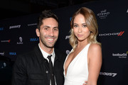 TV personalities Nev Schulman (L) and Tully Smyth attend the Furious 7 Los Angeles Premiere Sponsored by Dodge at TCL Chinese 6 Theatres on April 1, 2015 in Hollywood, California.