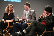 (L-R) Executive Director of WITNESS.ORG Yvette Alberdingk Thijm, co-founder of UPWORTHY, Eli Pariser and filmmaker Maxim Pozdorovkin attend Future of Film: All That's Fit To Shoot, Print Or... Tweet - 2014 Tribeca Film Festival at SVA Theater on April 23, 2014 in New York City.