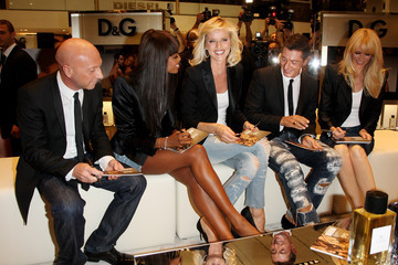 Naomi Campbell Domenico Dolce D&G Perfumes Collection Launch - Milan Fashion Week Spring/Summer 2010
