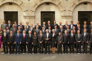 Guido Mantega The G20 Finance Ministers Hold Talks To Try And Boost the Global Economy