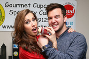 Model Katherine Webb (L) and football player AJ McCarron attend DirecTV Beach Bowl 2014 at the Gansevoort Hotel on January 30, 2014 in New York City.