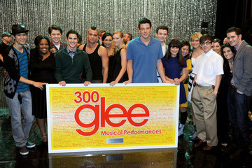 """Chris Colfer Cory Monteith """"GLEE"""" 300th Musical Performance Special Taping"""