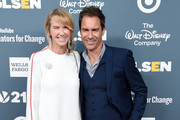 Actor Eric McCormack and wife Janet Holden arrive at the GLSEN Respect Awards at the Beverly Wilshire Four Seasons Hotel on October 19, 2018 in Beverly Hills, California.