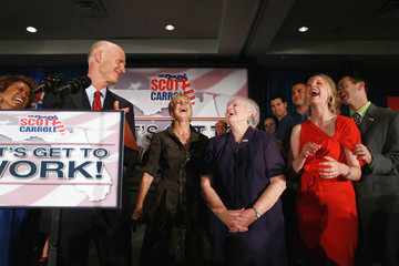 Esther Scott GOP Candidate For Governor Rick Scott Declares Victory