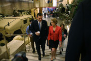 Republican presidential candidate Sen. Ted Cruz (R-TX) and his Vice Presidential candidate, former Hewlett-Packard chief executive Carly Fiorina, walk together as the prepare to participate in a taping of Fox News Channel's The Sean Hannity Show at the Indiana War Memorial on April 29, 2016 in Indianapolis, Indiana. Cruz continues to campaign leading up to the state of Indiana's primary day on Tuesday.
