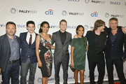 Danny Cannon, Robin Lord Taylor, Zabryna Guevara, Ben McKenzie, Jada Pinkett Smith, Donal Logue, and Sean Pertwee attend the GOTHAM Panel At PaleyFest NY on October 18, 2014 in New York City.